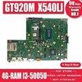 Материнская плата Akemy X540LJ для ноутбука ASUS VivoBook X540L F540L A540L R540L  оригинальная материнская плата 4GB-RAM  I3-5005U