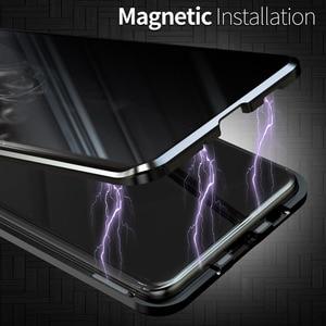 Image 3 - غلاف واقي مغناطيسي مضاد للخصوصية ، لهاتف Samsung Galaxy S21 S9 S8 Plus S20FE S10E Note 20 10 9 8 Ultra A51 A71 360