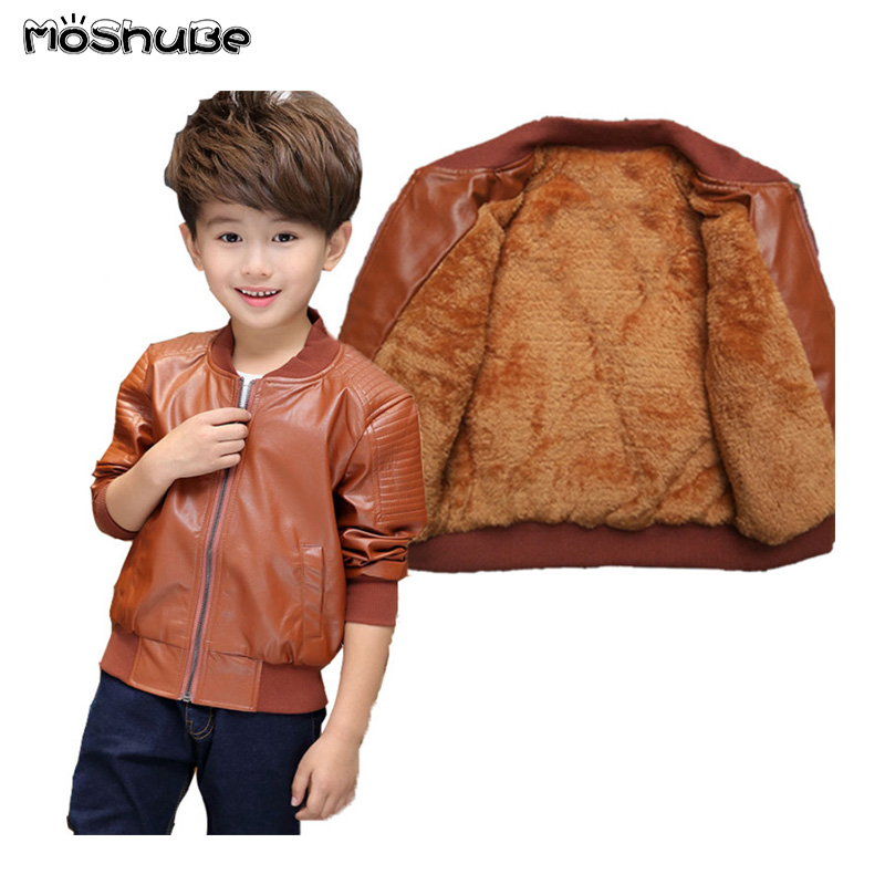 Children/'s leather autumn and winter  leather jacket  boys pu leather clothing