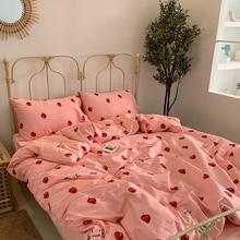 Пододеяльник для маленьких детей, Комплект постельного белья с героями мультфильмов, 3 шт./компл. 150*200 см, детские подушки для малышей, хлопок, простыня BXX038