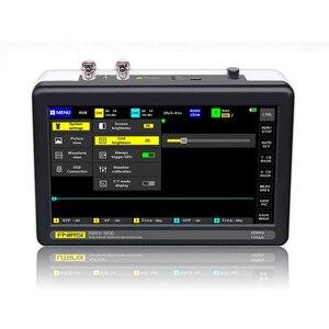Image 2 - 1013D 2 قنوات 100MHz الفرقة عرض 1GSa/s معدل أخذ العينات راسم USB مع 7 بوصة لون TFT LCD لمس شاشة راسم