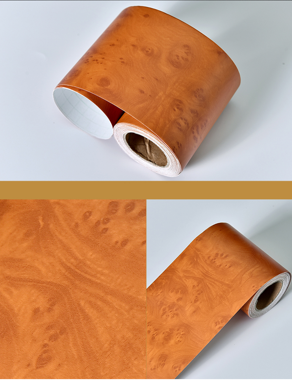 Wood Self Adhesive Window Decal Living Room Floor Border Skirting Contact Paper Waterproof Waist Line Wallpaper Home Improvement H196ac8abecb8420ea0d43da50225b3e5l