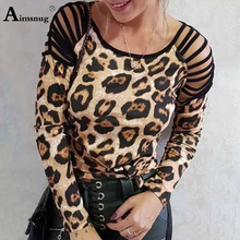 Plus size 4xl 5xl Women New Autumn Streetwear Print Camouflage Leopard Tops Long Sleeve Female T-Shirt Loose Ladies Tee Shirt