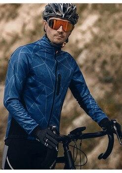 Santic Men Winter Cycling Jackets Fleece Thermal Windbreaker Waterproof MTB Coat Bike Jacket Keep Warm Reflective недорого