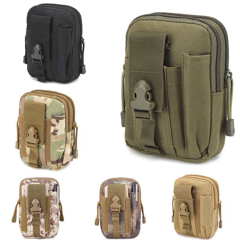 Tactical Military Hiking Camping Phone Pocket Bag Molle Waist Belt Pouch