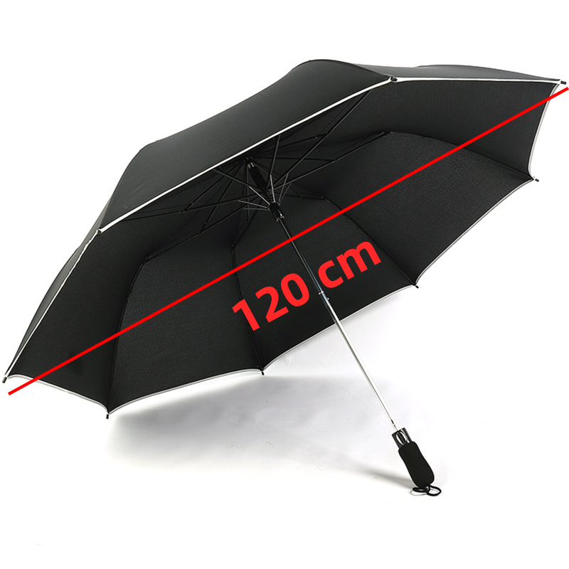 120cm Super <font><b>Big</b></font> <font><b>Umbrella</b></font> Lace 2 Folding <font><b>Golf</b></font> <font><b>Umbrella</b></font> Fully Automatic Fold Hand Open Advertising Sunny and Rainy <font><b>Umbrella</b></font> image