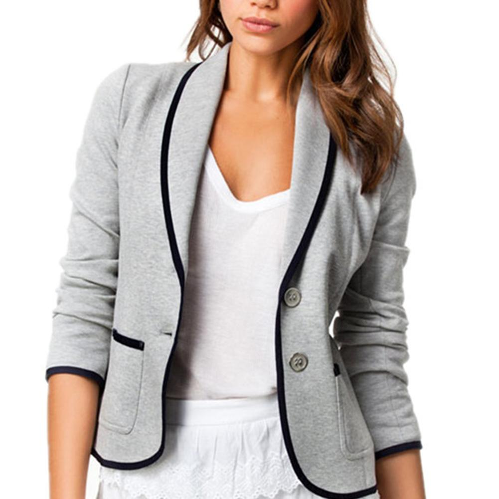 Women's Blazer Pink Long Sleeve Blazers Solid Cardigan Coat Slim Office Lady Jacket Female Tops Suit Blazer Femme Jackets Blazer