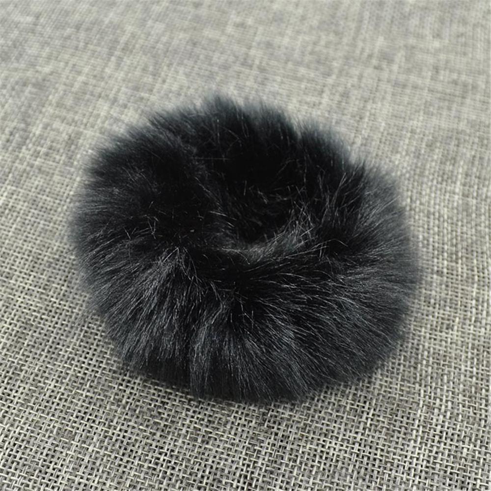 Милые эластичные резинки для волос для девочек, искусственный мех, резиновое эластичное кольцо, веревка, пушистый галстук, аксессуары для волос, меховые резинки, повязка на голову - Цвет: A5
