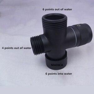 Image 2 - Antiqued Brons Water Splitter Douche Kraan Drie Way Water Klep Water Separator Sproeikop Schakelaar Een Twee gezamenlijke Converter