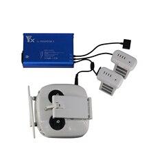 Phantom 3 pil şarj cihazı DJI Phantom 3 için uçuş pil şarj cihazı kontrol pilleri paralel şarj göbeği DJI 3A/3 P/ 3SE/3S