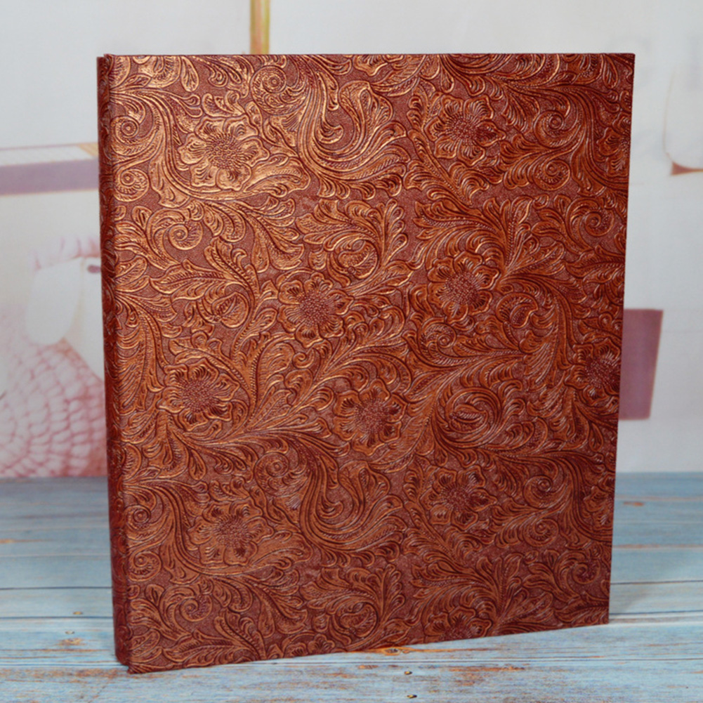 <font><b>600</b></font> Pockets <font><b>6</b></font> Inch High Capacity Flower Gifts Interleaf Type Commemorative DIY Baby Landscape Photo Album PU Leather Home Decor image