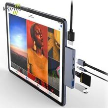 USB C ハブアダプタと USB C タイプ C PD 充電 4 HDMI USB 3.0 3.5 ミリメートルヘッドホン 2018 iPad Pro プロサムスン S8 S9 S10
