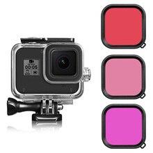 Водонепроницаемый чехол для Gopro Hero 8, фильтры для дайвинга, Аксессуары для камер, 3 шт.