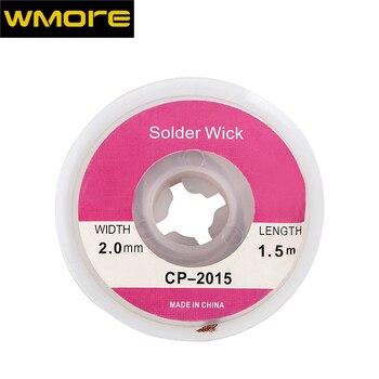 WMORE soldering iron wick wire lead-free Tin 1.5M length 2mm width Desoldering Braid Welding Solder Remover Wick Wire Cord Flux цена 2017