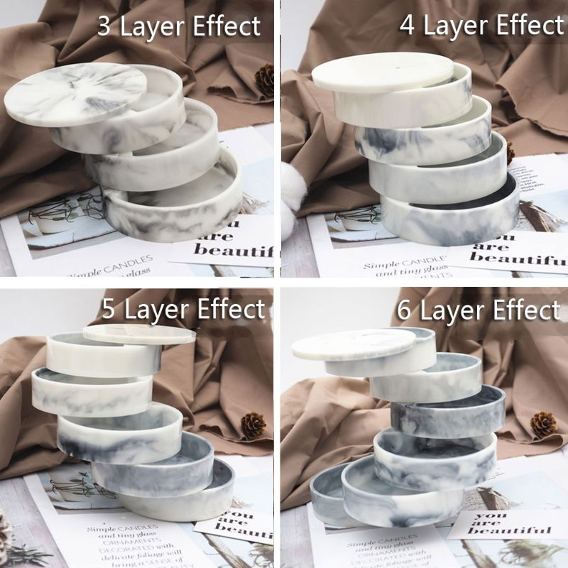 Handmade Rotating 3-Tiered Tray Jewelry Storage Organizer Resin Casting Mold 54DC