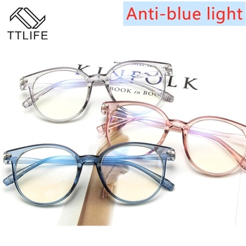 TTLIFE Blue Light Blocking Spectacles Anti Eyestrain Decorative Glasses Light Computer Radiation Protection Eyewear YJHH0306