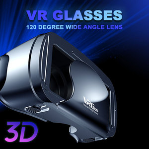 Image 1 - 5~7 inch 120 Wide Angle VRG Pro 3D VR Glasses Virtual Reality Full Screen Visual VR Glasses Box For iPhone XiaoMi Eyeglasses