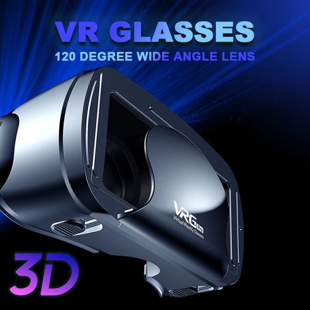 5~7 inch 120 Wide Angle VRG Pro 3D VR Glasses Virtual Reality Full Screen Visual VR Glasses Box For iPhone XiaoMi Eyeglasses