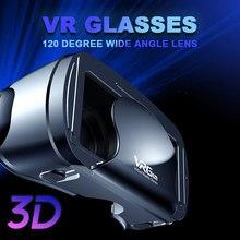 VRG Pro 3D очки виртуальной реальности с широким углом обзора, 120 дюймов, 5 ~ 7 дюймов, полный экран, VR очки для iPhone, XiaoMi, очки