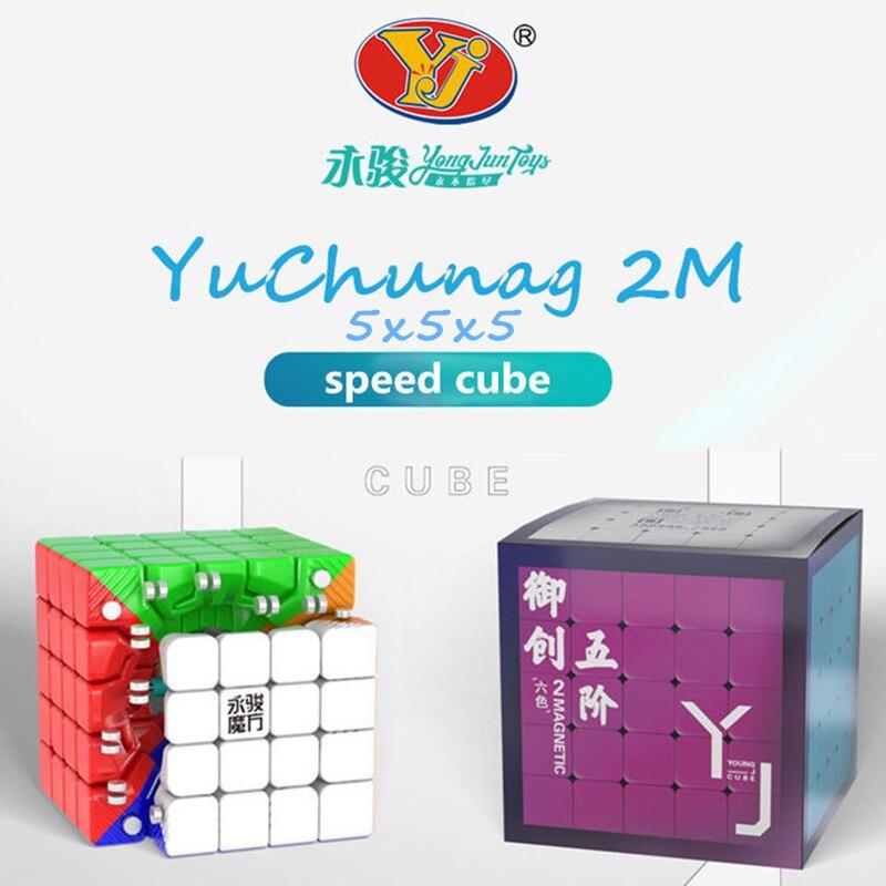 Yongjun 5x5x5 Cube YuChuang M Magnetic 5x5x5 Magic Cube Yongjun 5x5 Magnetic Speed Cube 5x5x5 Cubo Magico 5x5 Puzzle Cube