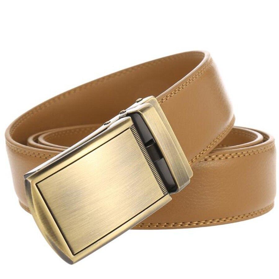Men's Leather Ratchet Belt Automatic Sliding Buckle Men Leather Belt- Ratchet Black Dress Belts For Men With Automatic Buckle