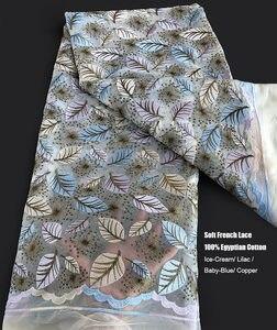 Image 2 - Tissu africain en dentelle française, tulle nigérian, tissu de couture de haute qualité, tenue occasionnelle, liquidation 5 yards