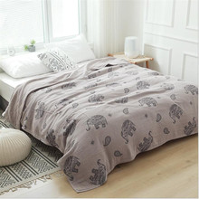 Throw Blanket Mandala-Style Soft 100%Cotton Travel Sofa Bed 200--230cm Para Four-Layers