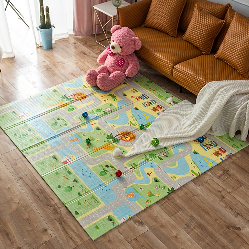 180 * 200 CM Baby Play Mat Soft Cartoon Crawling Pad Folding Environment Household Children Leisure Comfortable Floor Play Mat