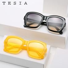 2020 Retro Womens Sunglasses Vintage Square Shades For Women Black Yellow