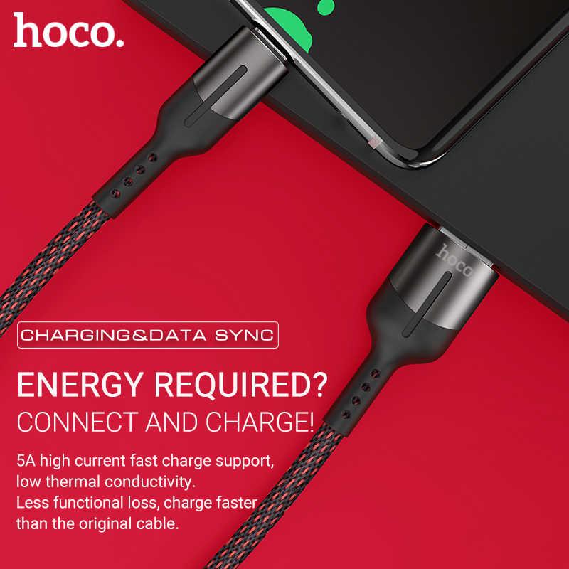 Hoco 5a usb tipo c cable android cargador usb-c cable para Huawei Oppo uno más cable 40W 50W W carga datos sincronización nylon alambre trenza