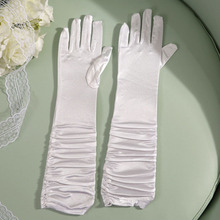 White red and black long gloves summer breathable fashionable high-end successful business