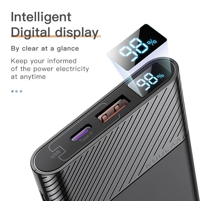KUULAA Power Bank 10000mAh QC PD 3.0 PoverBank Fast Charging PowerBank 10000 mAh USB External Battery Charger For Xiaomi Mi 10 5