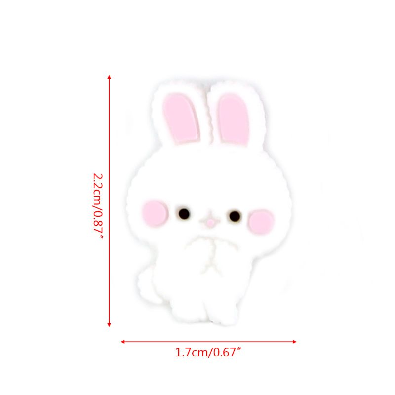 5 Pcs/pack Newborn Teething Silicone Mini Beads Infants Kids Nursing Accessories Bead Bunny Rabbit Shape Baby Teether 63HE
