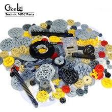 200 gramas/lote 24 tipos high-tech peças blocos de construção engrenagem a granel studless feixe braços pino connctor eixo carro caminhão tijolos brinquedo
