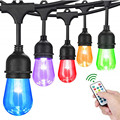 Waterproof Heavy Duty Outdoor RGB LED String lights Connectable Festoon for Party Garden Christmas Holiday Garland Cafe