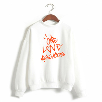 2021 NEW hot shopping Ariana Grande Same item women's Sweatshirt printed letter ONE LOVE MANCHESTER winter casual hoodies 1
