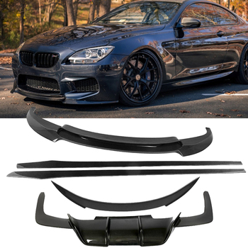 For M6 Body Kits Front Bumper Lip For BMW 6 Series F06 F12 F13 M6 2013-2018 Rear Diffuser Spoiler Side Skirts Carbon Fiber image