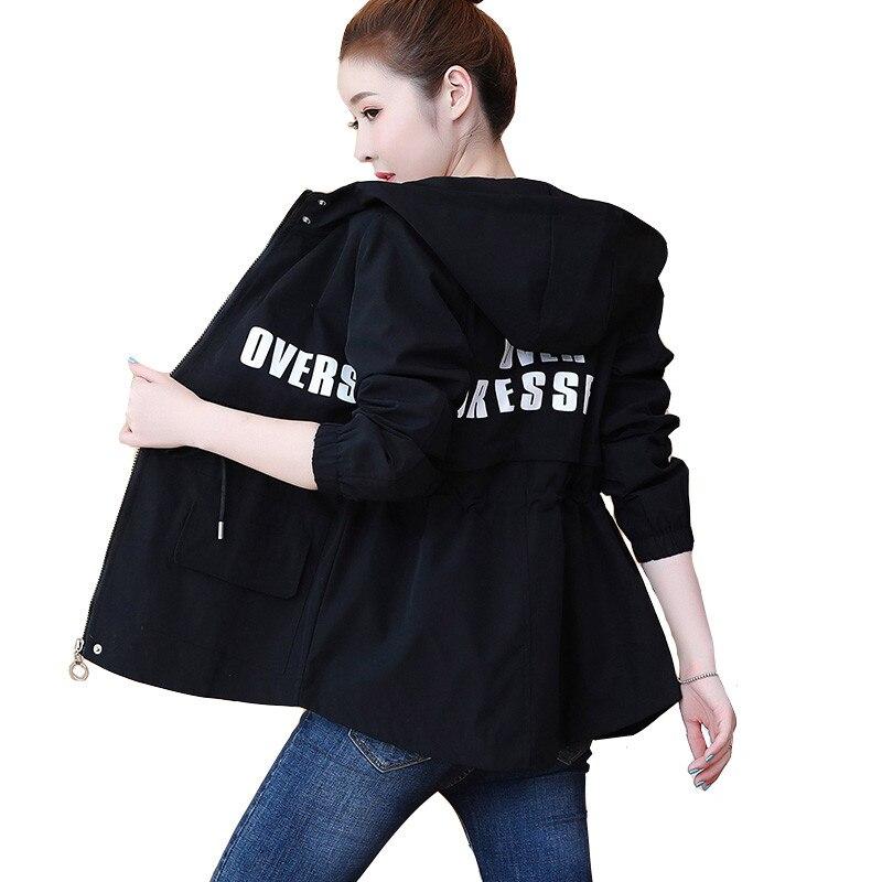 Women's Hooded   Jackets   2020 Spring Causal Famale Windbreaker Women   Basic     Jackets   Coats Zipper Pocket Lightweight   Jackets   Bomber