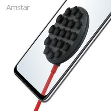 Amstar 10W Suction Cup Qi Wireless Charger Fast Wireless Charging Sucker for iPhone 12 11 Pro Max X XR XS Max Samsung S21 S20 +