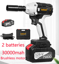 Sollant 30000mah Electric Impact Wrench Corded 1/2-Inch , 680N.m Max Torque, 3800rpm speed, Two-Direction Rocker Switch