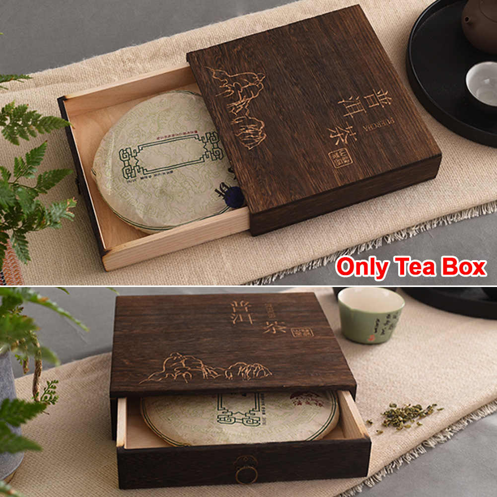 Jewelry Storage Organizer Tea Box Square Wooden Canister Vintage Elegant Package Herbs Portable Accessories Flip Cover Gift