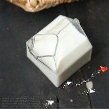 Стеклянная бутылка для молока, креативные, американские, наполовину пинпинслислислислислислислислислислислив картонкартонкартонкартонкартонкартонкоробки коробки, ручной работы