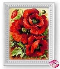 5D поделки Алмаз живопись цветы Кристалл круглый Вышивка Крестом вышивка алмазов мозаика стены стикеры домашнего декора 35х45
