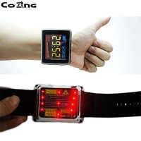 Laser a semiconduttore macchina di terapia per Alleviare le tensioni e abbassare la pressione sanguigna Rosso Blu Laser Orologio
