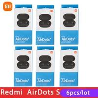6 confezioni/lotto Xiaomi Redmi Airdots 2 TWS auricolare Wireless controllo vocale Bluetooth 5.0 riduzione del rumore Tap Control