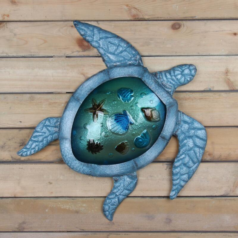 Image 2 - Liffy Turtle Metal Glass Wall Art for Outdoor Decoration Garden Ornaments and Home Gardening Statues  for Yard Decoration-in Garden Statues & Sculptures from Home & Garden