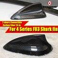 Для F83 Shark Fin Carbon для BMW F83 2-дверный Кабриолет M4 420i 428i 428ixD 430i 435i 440i антенна на крышу Акулий плавник крышка 2013-in