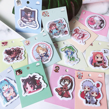 1pcs Anime Memo Pad Note Sticky Paper Stationery Planner Stickers Notepads Office School Supplies 1pcs korean cat rabbit sheep stationery memo pad week plan memo sticky note set agenda sticker office school supplies
