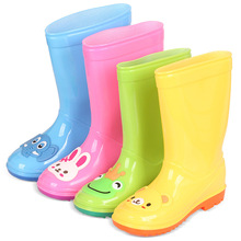2019 New Kids Long Rain Boots Girls Boys children Water shoes Rainboots Loverly Waterproof Overshoes Baby Non-slip Rubber Shoes