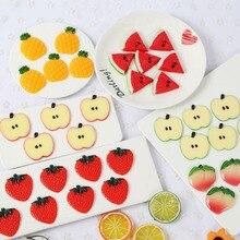 Искусственная модель фруктов для свадьбы, вечерние украшения для кухни, искусственные кусочки лимона 5 см, ПВХ, 10 шт./лот